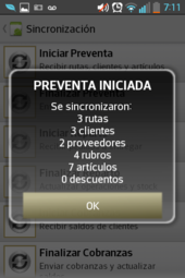 preventa movil - fin sincronizacion