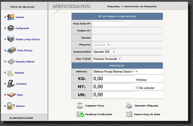 Software de Produccion